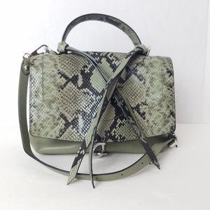 Rebecca Minkoff Green Python Handbag